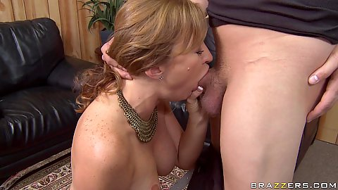 Milf Mya goes down for titty fuck and blowjob