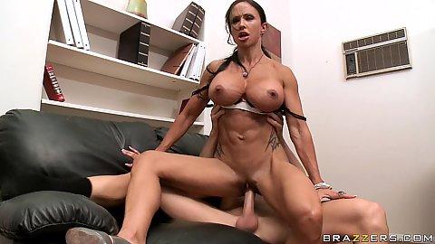 Big tits Jewels sucking dick and hardcore sex