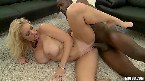 Big black cock sideways penetration of white milf