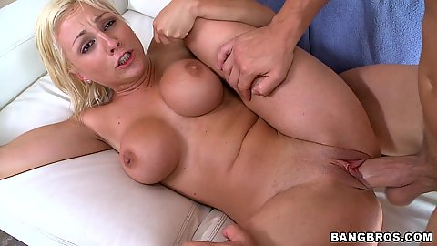 Shaved pussy and sideways penetration for Lexi