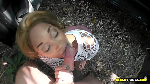Paid for sucking blowjob outdoors from Ashton