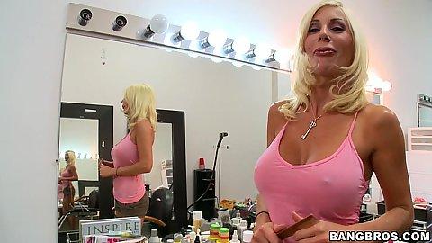 Puma Swede a blonde on a date