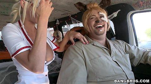 Bangbus Halloween special with Puma Swede nurse