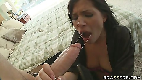 Dirty cop fucks a housewife and makes her suck him