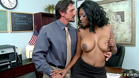 Hot busty mom fucking sons principal with a titty fuck