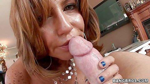 Blowjob from redhead milf slut Tara Holiday