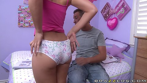Cock hungry teen is reaching into Keirans pants