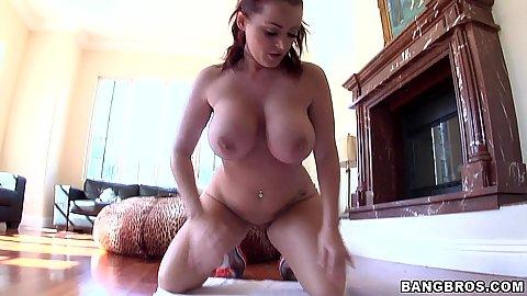 Super hot busty round ass Sophie Dee taking a bath shower