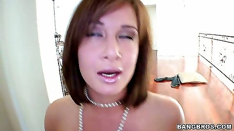 Hot chick jerks cock and plays with balls