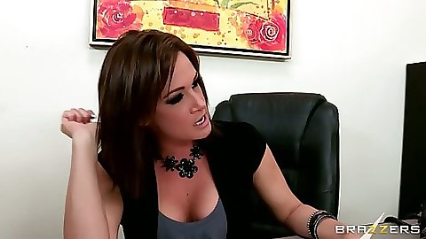 Big tits Tory Lane in the office preps for fuck