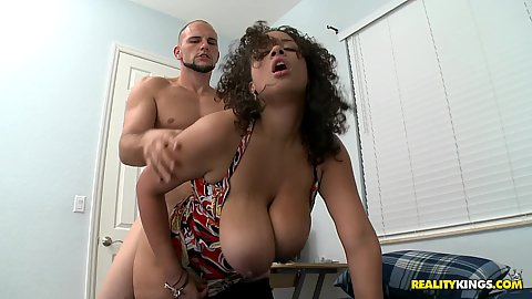 Big natural tits Selena fucked doggy style