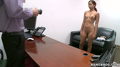 Hot latina naked during an audition