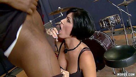 Brunette experienced cock sucking milf Shay Fox