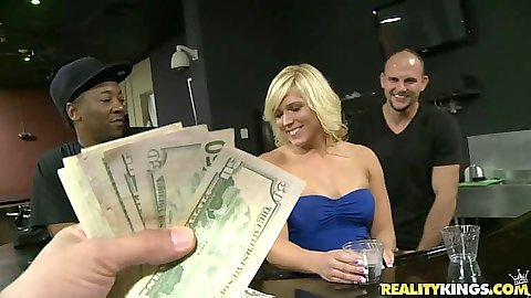 Paying for a blowjob in a dress