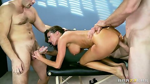 Awesome office threesome with hot milf Veronica Avluv