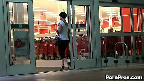 Shay Fox going shopping and a pervert watches here