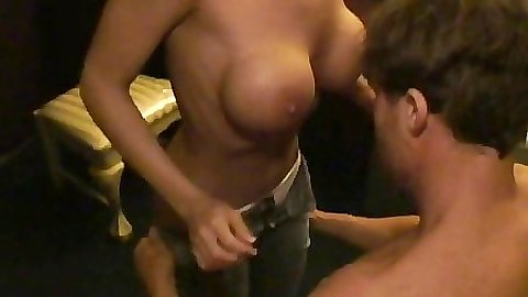 College chick found fucked up and shuved a cock in face