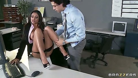 Big tits Priya Anjali Rai in the office getting nailed on the desk