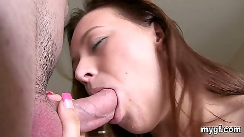 Close up gf Alisa Ford blowjob and reverse cowgirl