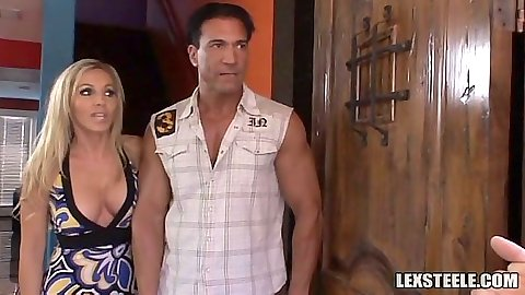Blonde milf Lisa Lee and Maya Gates meet up for some group meating