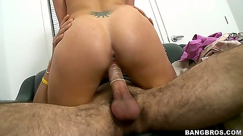 Lisa sitting on cock and bending over the couch for rear fuck
