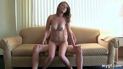 Reverse cowgirl amateur gf Ariel Lee sitting on dick with a close up