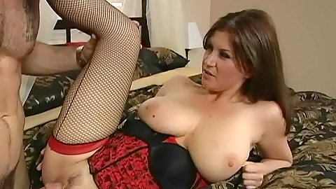 Horny housewife slut Sara nicely rammed on bed