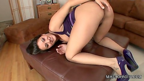 Charley Chase showing off her ass and pov blowjob on her knees