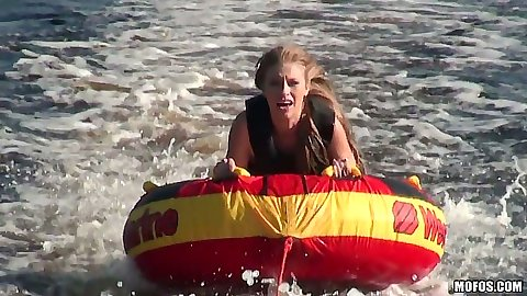 Sexy amateur teen  Avril playing in the water