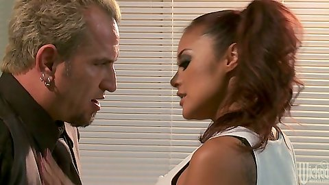 Asian naughty schoolgirl Kaylani Lei goes down on teacher