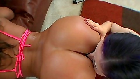 Sexy babes armed with strap ons and dildos in lesbian orgy