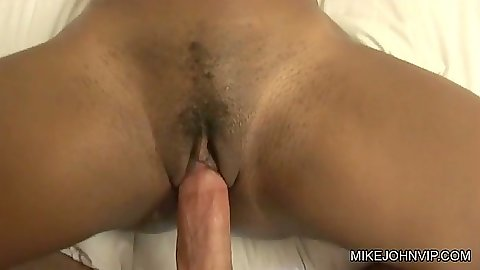 Shaved and trimmed ebony pussy on Rane Revere fucked and pov blowjob