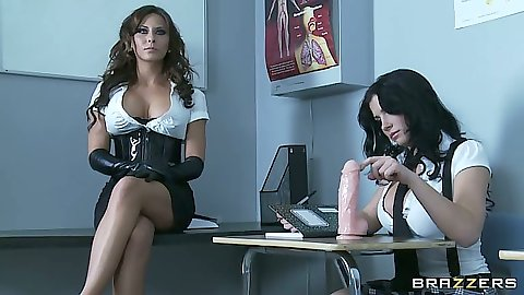 Big tits in school with Madison Ivy and Rebeca Linares