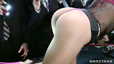 Great ass Juelz Ventura crawling on the table getting dildo in ass