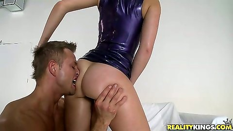 Oiled up ass licking and face sitting with Remy La Croix