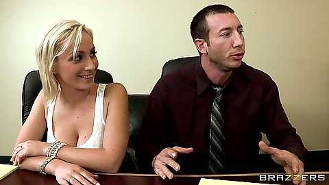 Big tits Chanel Preston and Lexi Swallow sitting in the office