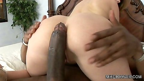 Interracial big cock cowgirl sex with Tatiana Kush