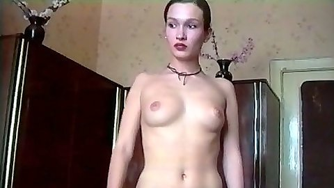 Amateur Agnes Tilli shy undressing for her first sex video shot
