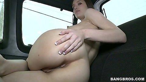 Nice ass Zarena Summers showing her amateur ass on bangbus