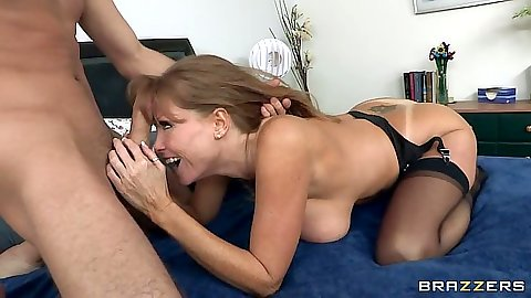 Darla Krane milf sucking dudes cock and balls and doggy style fuck