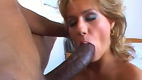 Milf Sarah Blue sucking black cock and 69