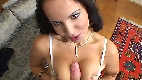 Laura Lion titty fucking and close up shaved pussy sex