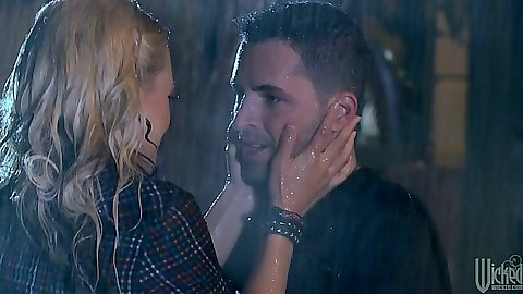 Making out under the rain with Briana Blair