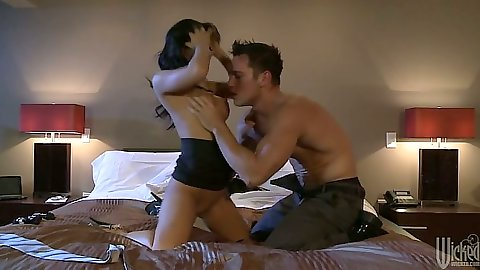 Asian chick Asa Akira ass licked and 69 position with hardcore sex