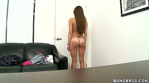Jennifer Blaze  undressing during audition to the skin
