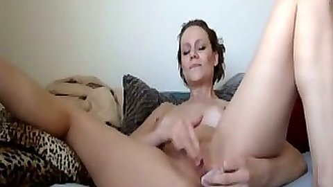 Solo masturbation with Alex Avery showing her nice medium natural tits
