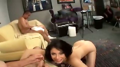 Blowjob from Soma and group sex doggy style
