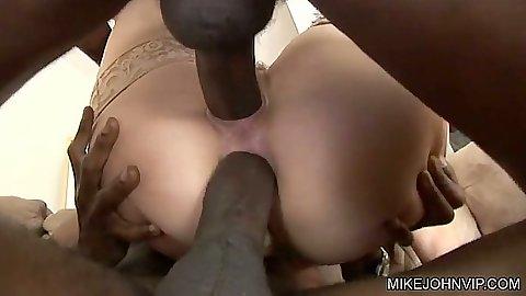 Double penetration deep close with Bobbi Starr fucked hard