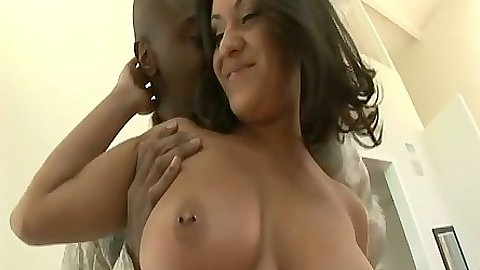 Big tits all natural babe Charley Chase gets ass licked