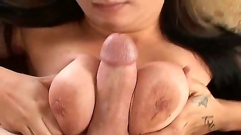 Slut Bebe pov titty fuck with nice penis licking